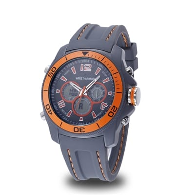 Picture of Wrist Armor C29 Multifunction Watch - Grey And Orange Dial - Grey Rubber Strap