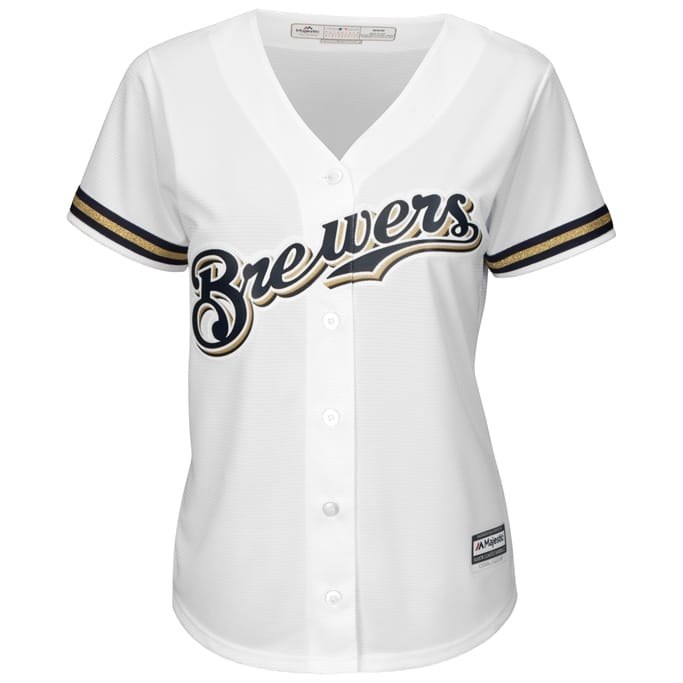 39c509b37d4 Women s Milwaukee Brewers Replica Home Jersey