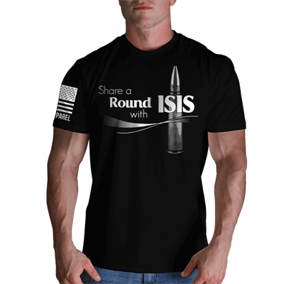Picture of Men's Share a Round with ISIS Shirt - Black - S