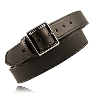 Picture of 1 3/4 Fully Lined Leather Garrison Belt - Plain Black - 34 - Nickel