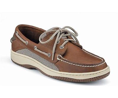 Picture of Men's Billfish 3-Eye Boat Shoes - Dark Tan - 10.5 - Wide