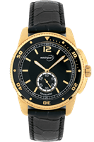 Picture of 43mm Gold Tone Leather Watch - Gold - Black