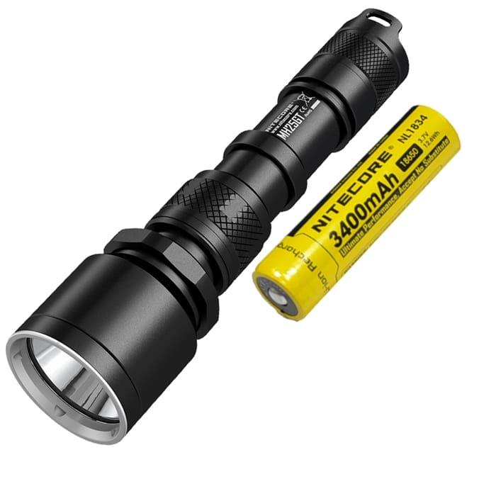 Nitecore MH20 Rechargeable Flashlight w//Nitecore 3400mAh 18650 Battery