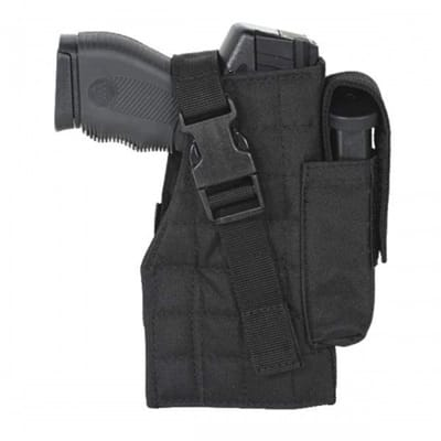 Picture of Tactical MOLLE Holster with Attached Mag Pouch - Black - Right