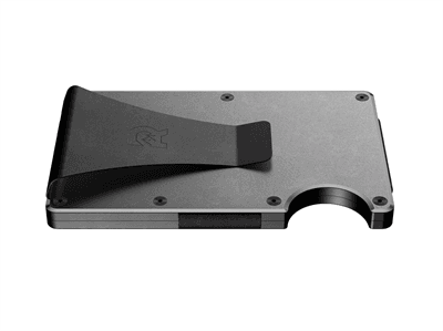 Picture of Aluminum Ridge Wallet Money Clip - Aluminum/Gunmetal