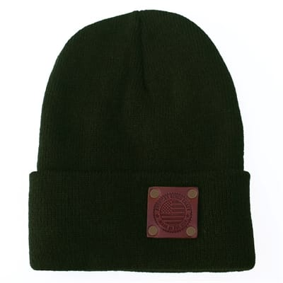 Picture of Stars and Stripes Riveted Watch Cap - Green Cap/Gold Rivets