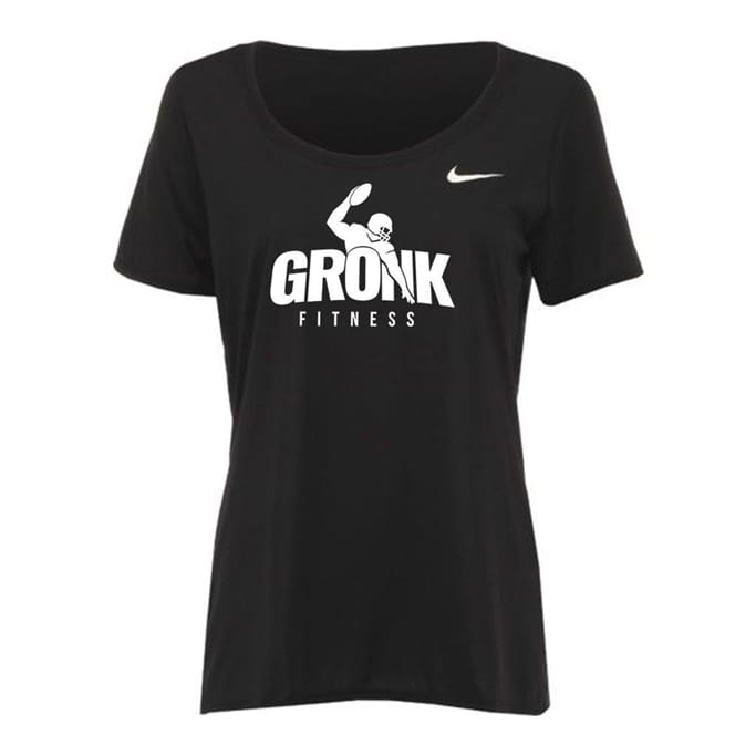 f2dc9be449800 Sweat-wicking Comfort. Ladies it is time to Get Gronk'd. The Nike Dri-FIT  Women's Training T-Shirt ...