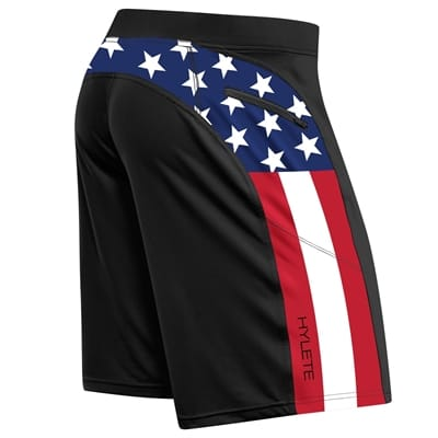 Picture of Men's Helix II Flex-Knit Integrated Pocket Shorts - Black/USA - M - Above Knee