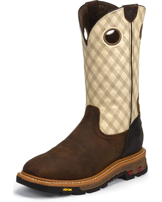 94adade5d2c Justin Original Workboots - Men's Roughneck Tan Boots - Discounts ...