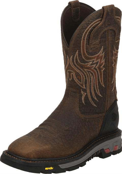 1636a109f13 Justin Original Workboots - Men's Driscoll Mahogany Steel Toe Boots ...