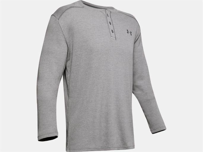 Under Armour Mens Waffle Long Sleeve Henley Shirt