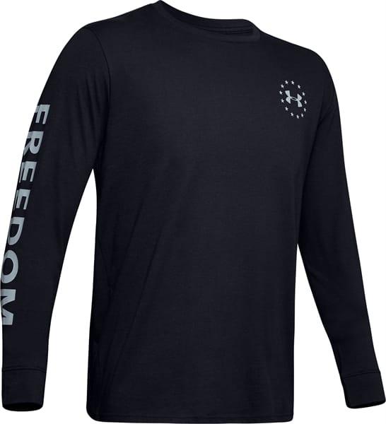 Large Black Details about  /UA Freedom Flag Long Sleeve T-Shirt